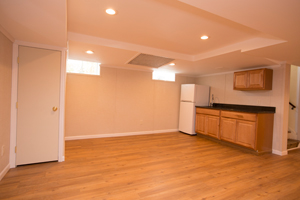A complete finished basement system in a South Windsor home