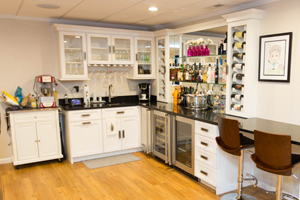 Bar in a Norwalk finished basement