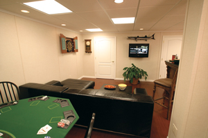 Man cave in Norwalk basement