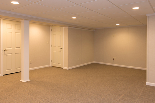 Basement finishing ideas in stamford yonkers norwalk ct and ny basement remodeling ideas - Finished basement ...