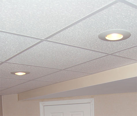 Basement Ceiling Tiles for a project we worked on in St. Peters, Illinois & Missouri