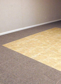 Basement Flooring in a home in Milford, Connecticut