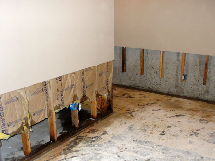 Basement Wall Restoration Wet Drywall Repair Connecticut