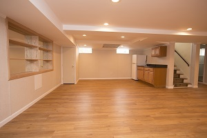 Basement finishing flooring in Stamford & nearby