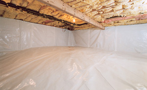 Crawl Space Moisture Barrier After in Norwalk