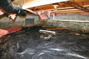Crawl Space Repair Before in Yonkers