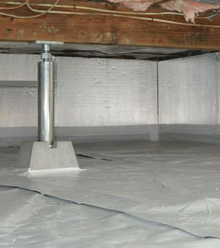 Installed crawl space insulation in Glastonbury