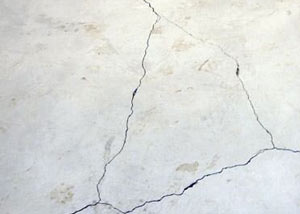cracks in a slab floor consistent with slab heave in Stratford.