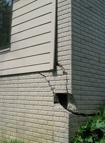severe cracking of structural walls in New Rochelle
