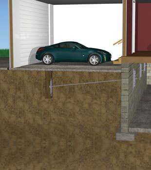 Graphic depiction of a street creep repair in a Avon home