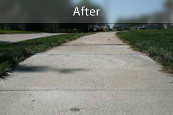 After photo of PolyLevel® concrete sidewalk repair in Yonkers