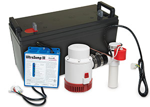 a battery backup sump pump system in Glastonbury