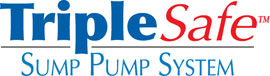 Sump pump system logo for our TripleSafe™, available in areas like Brookfield