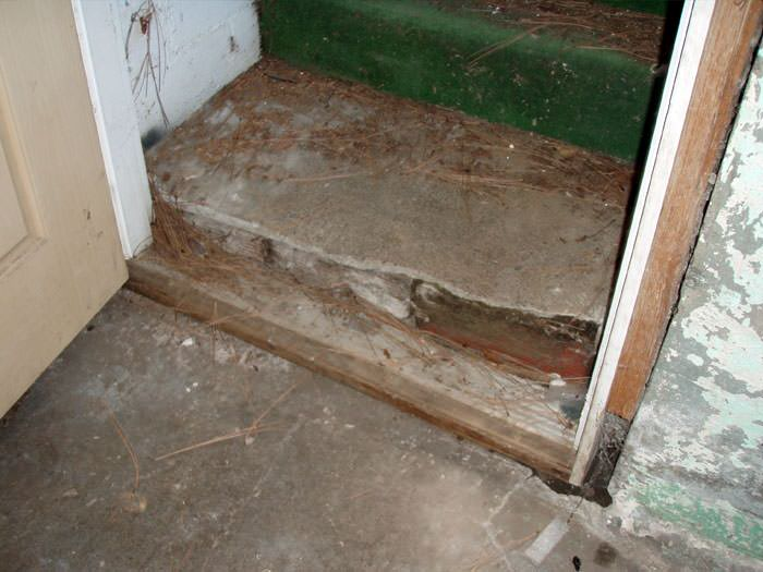 A Flooded Basement In Bethel Where Water Entered Through The Hatchway Door