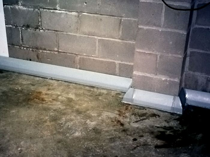 ... Our baseboard drain system installed on a corner in a Ossining basement. & Baseboard Basement Drain Pipe System in Connecticut and Westchester ...