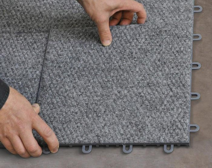 Interlocking Carpeted Floor Tiles Available In Danbury Connecticut And New York