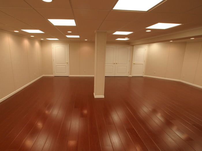 Wonderful Rosewood Faux Wood Basement Flooring For Finished Basements In Yonkers ... Photo