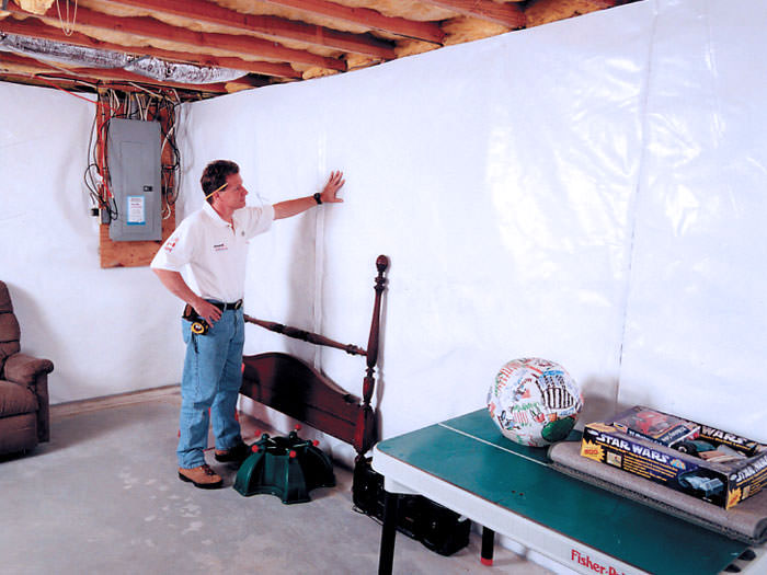 CleanSpace® Installed On A Concrete Basement Wall ...